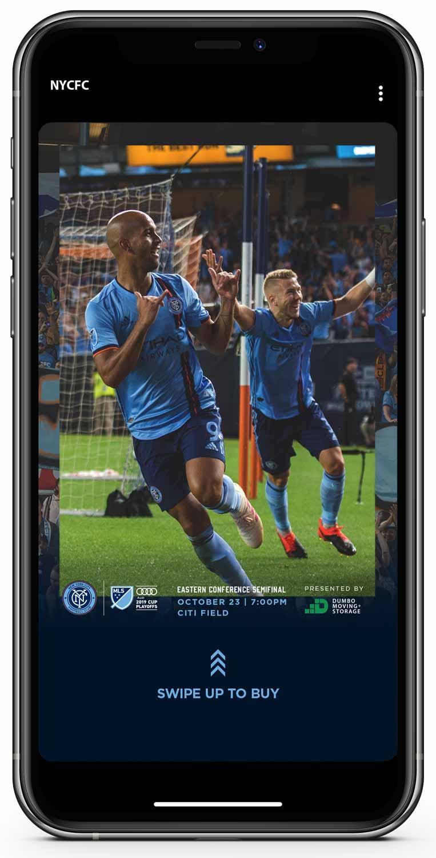 NYCFC Swipe Up Mobile
