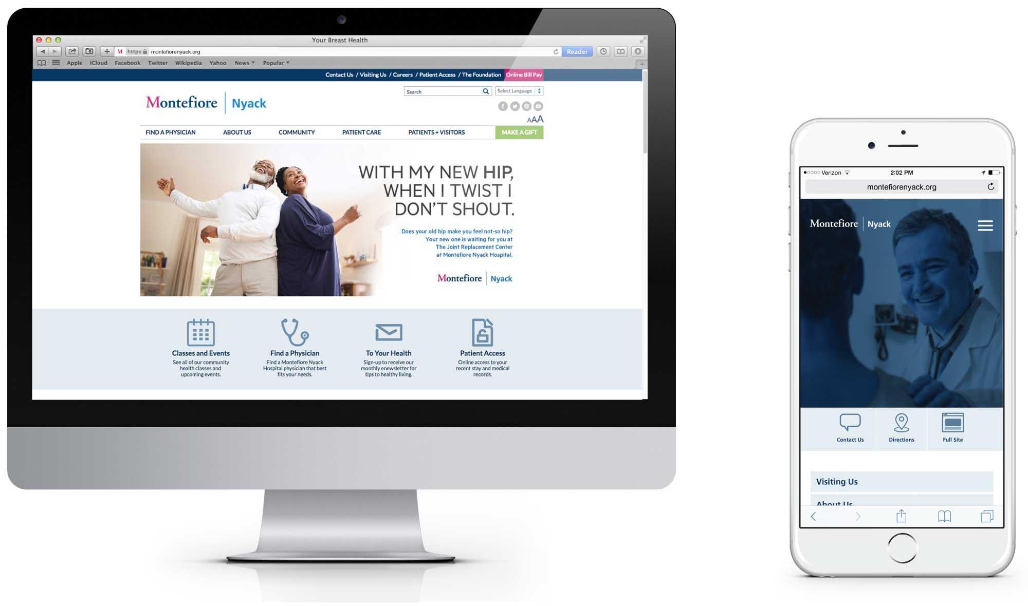Montefiore Nyack Desktop Homepage Comp