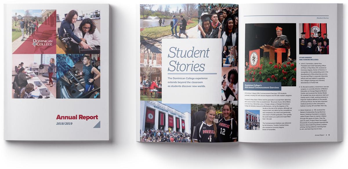 Dominican College Student Stories Mock Up Hero Image